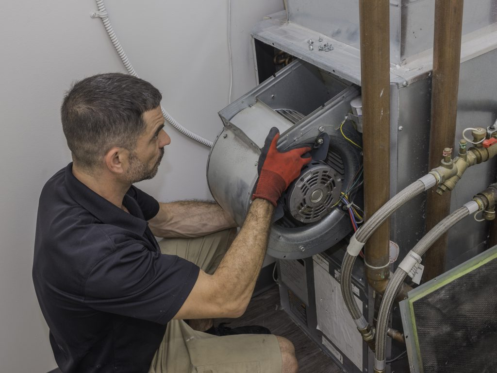 Hvac motor installation