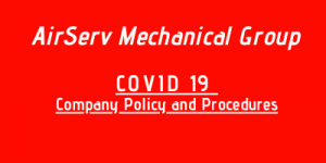 COVID 19 Company Policy and Procedures